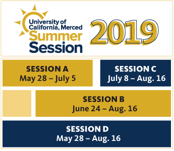 UC Merced - Summer Session course schedule