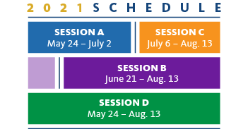 Summer Session Schedule graphic