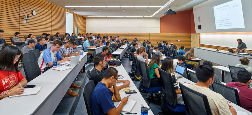 UC Merced - students in class lecture